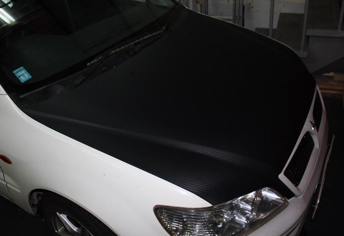 """МР """"Левша"""", г.Братск - Транспорт: Оклейка капота Mitsubishi MMC под карбон"""
