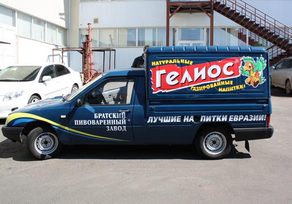 "МР ""Левша"", г.Братск - Транспорт: Аппликация на автомобиль ""Гелиос"""