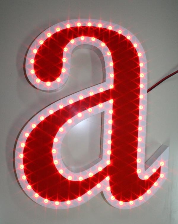 """МР """"Левша"""", г.Братск - Разное: Световая буква контурного свечения с открытыми светодиодами"""